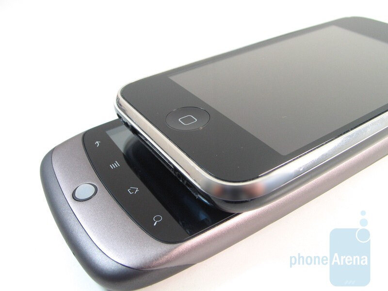 Both handsets exude a high level of workmanship - Apple iPhone 3GS and HTC Nexus One: side by side