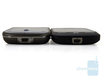 HTC Hero (left) next to the HTC DROID ERIS (right) - HTC Hero and HTC DROID ERIS: side by side