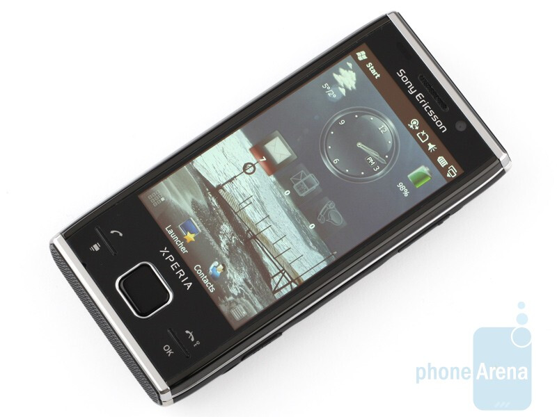 The display measures 3.2 inches  - Sony Ericsson Xperia X2 Review