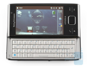 The QWERTY keyboard - Sony Ericsson Xperia X2 Review
