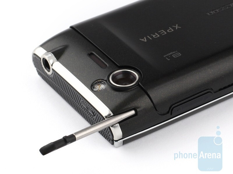 The 3.5mm jack and stylus compartment are on the top - Sony Ericsson Xperia X2 Review