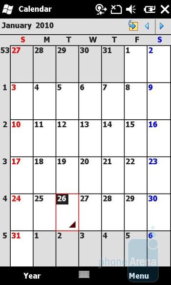 Calendar - Sony Ericsson Xperia X2 Review