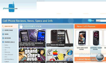 Surfing the internet with the Sony Ericsson Xperia X2 - Sony Ericsson Xperia X2 Review