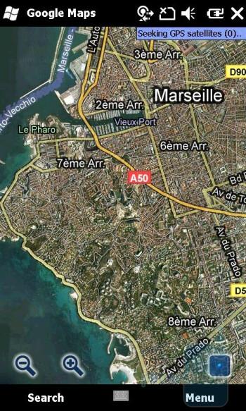 Google Maps - Sony Ericsson Xperia X2 Review