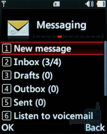 Messaging - The interface of the LG GM205 - LG GM205 Review