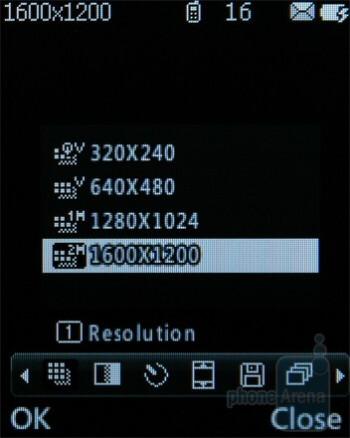 Camera interface - LG GM205 Review