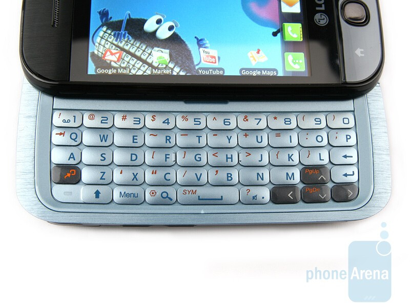 The 5-row QWERTY keyboard of the LG GW620 - LG GW620 Review