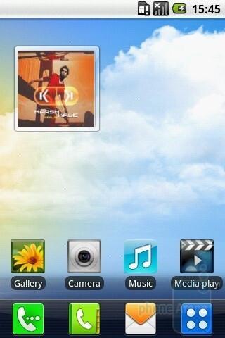 The LG GW620 runs Android version 1.5 - LG GW620 Review