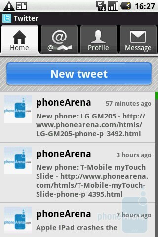 Twitter - The SNS app - LG GW620 Review