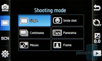 Camera interface - Samsung Monte S5620 Preview