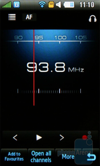 Radio - Samsung Monte S5620 Preview