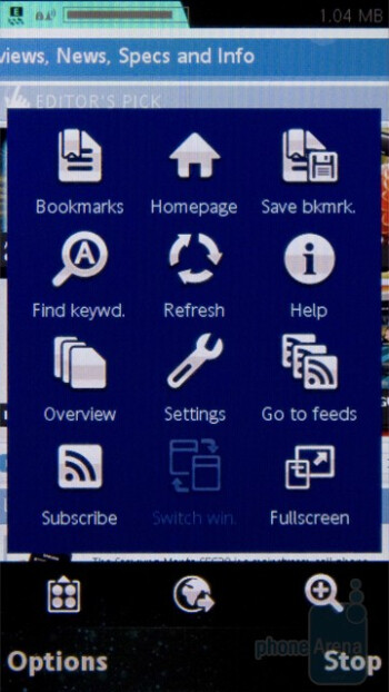 The rest of the interface is unaltered - Sony Ericsson Vivaz Preview