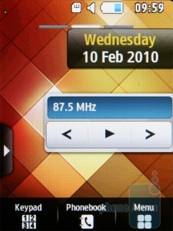 The Samsung Corby 3G S3370 comes with TouchWiz interface. - Samsung Corby 3G S3370 Preview