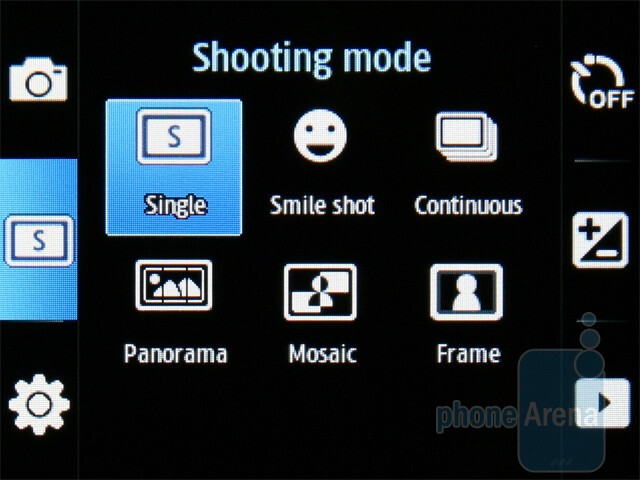 The camera interface - Samsung Corby 3G S3370 Preview