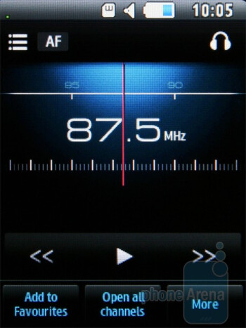 FM Radio - Samsung Corby 3G S3370 Preview