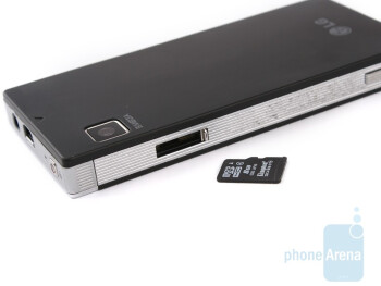 The microUSB port and microSD card slot of the LG Mini GD880 are concealed from sight - LG Mini GD880 Preview