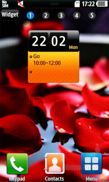 Home screen - Samsung Wave S8500 Preview