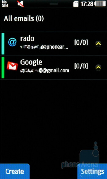 Ultimate Inbox is a new feature - The phonebook allows you to link your contacts to their IM and social accounts - Samsung Wave S8500 Preview