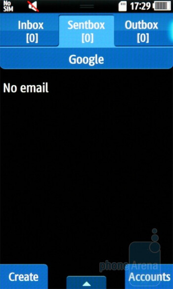 Email - Samsung Wave S8500 Preview