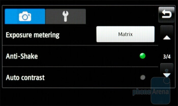 Camera interface - Samsung Wave S8500 Preview