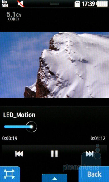Video playback - Samsung Wave S8500 Preview
