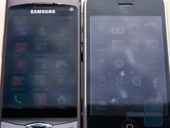 Outdoor comparison - Samsung Wave S8500 (left), Apple iPhone 3G (right) - Samsung Wave S8500 Preview