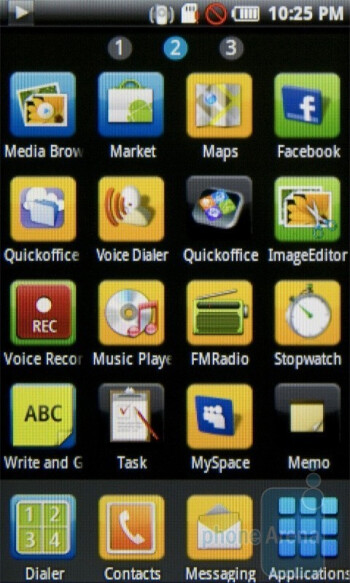 Main menu - Samsung Galaxy 3 I5800 Preview