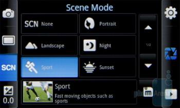 Camera interface - Samsung Galaxy 3 I5800 Preview