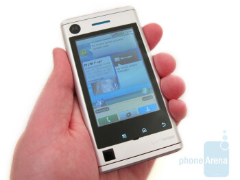 The Motorola DEVOUR A555 feels just a tad bulkier than the DROID - Motorola DEVOUR A555 Review