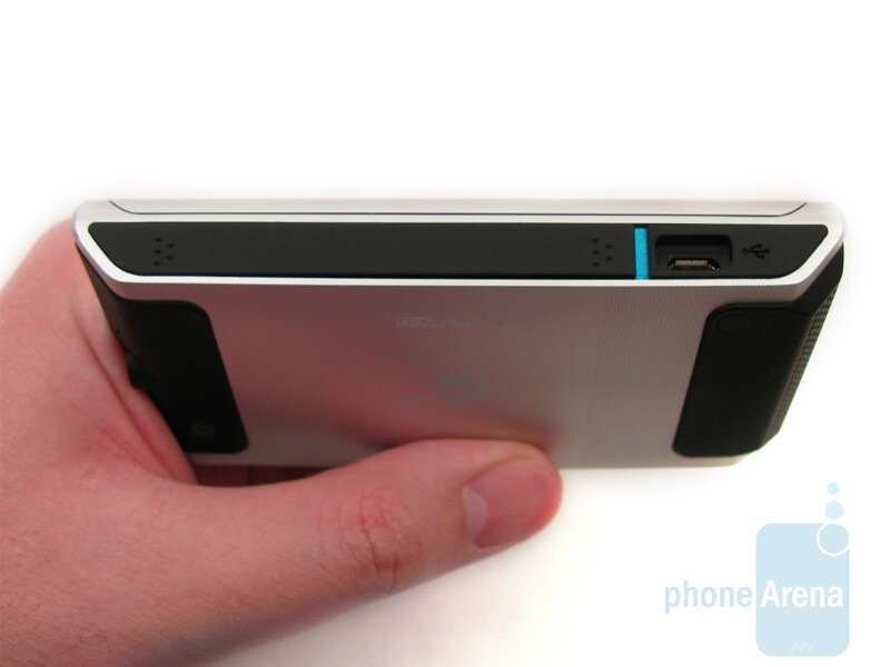 The Motorola DEVOUR A555 feels just a tad bulkier than the DROID - Motorola DEVOUR A555 Review