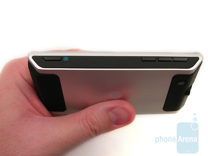 Keys on the right - Motorola DEVOUR A555 Review