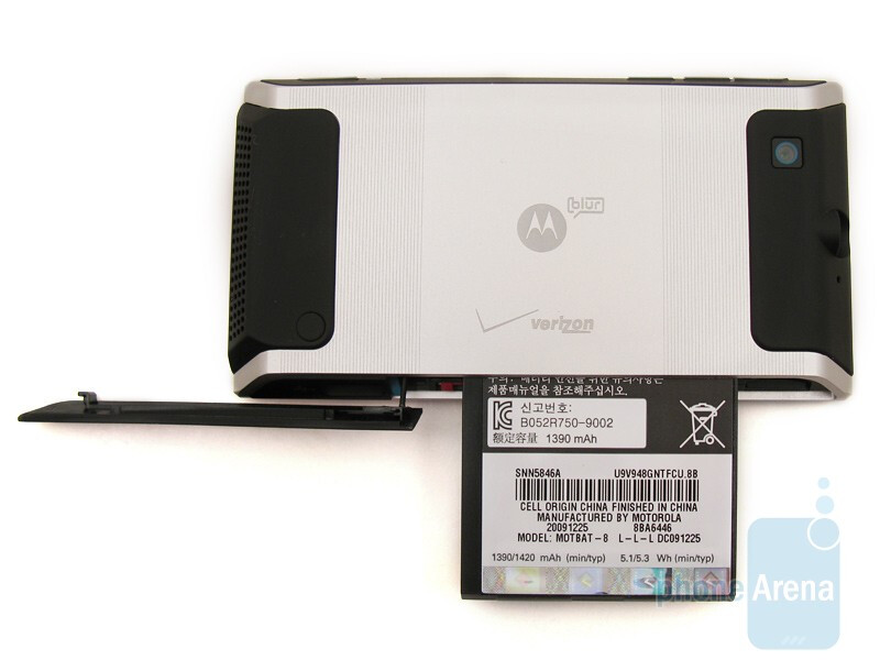 Battery slot on the side - Motorola DEVOUR A555 Review