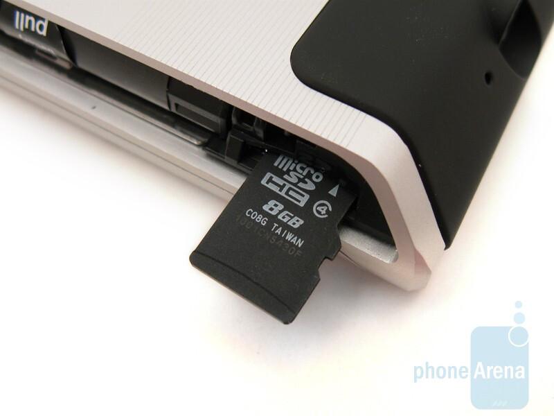 microSD slot - Motorola DEVOUR A555 Review