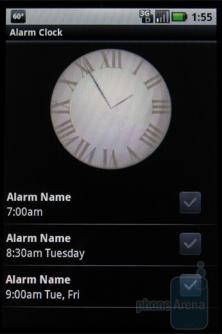 Calendar and alarms in the Motorola DEVOUR A555 - Motorola DEVOUR A555 Review