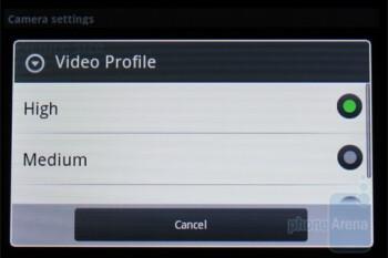 Camera interface of the Motorola DEVOUR A555 - Motorola DEVOUR A555 Review