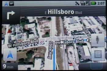 Google Maps Navigation in the Motorola DEVOUR A555 - Motorola DEVOUR A555 Review