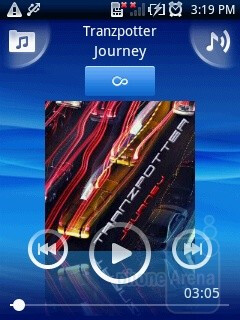 The music player - Sony Ericsson Xperia X10 mini Preview