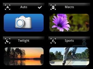 The camera inteface - Sony Ericsson Xperia X10 mini Preview