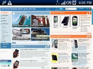 The browser of Sony Ericsson Xperia X10 mini - Sony Ericsson Xperia X10 mini Preview