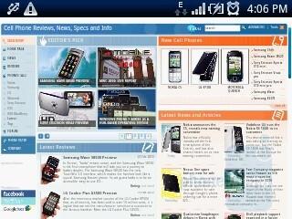 The browser of Sony Ericsson Xperia X10 mini - Sony Ericsson Xperia X10 mini Preview