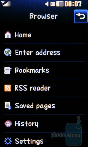 The web browser is usable - LG Cookie Fresh GS290 Preview
