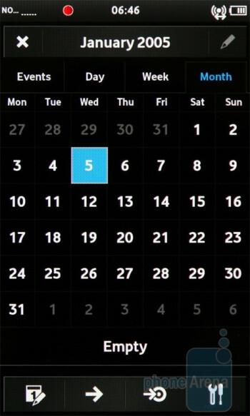 Calendar - Vodafone 360 Samsung H1 Review