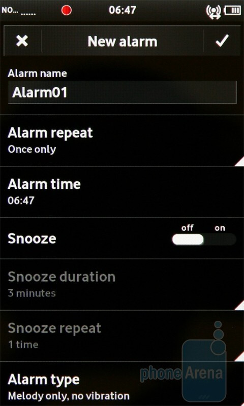 Alarm - Vodafone 360 Samsung H1 Review