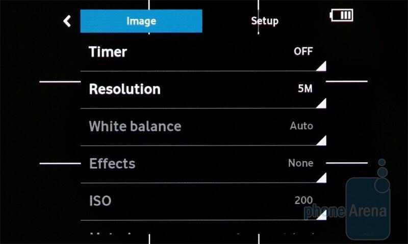 Camera interface - Camcorder interface - Vodafone 360 Samsung H1 Review