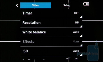 Camcorder interface - Vodafone 360 Samsung H1 Review