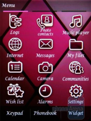 Main menu - Samsung Diva S7070 Review