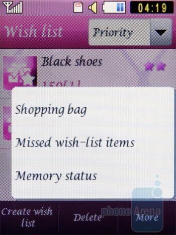 Wish list - Samsung Diva S7070 Review