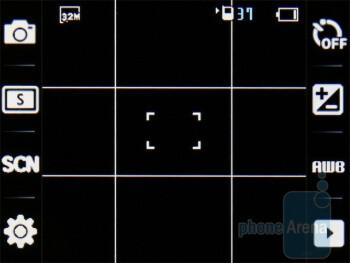 Camera interface - Samsung Diva S7070 Review