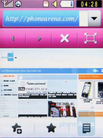 The WebKit-based internet browser of the Samsung Diva S7070 - Samsung Diva S7070 Review