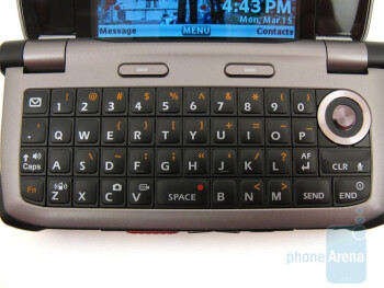 The 4-row QWERTY keyboard - Casio G'zOne Brigade C741 Review